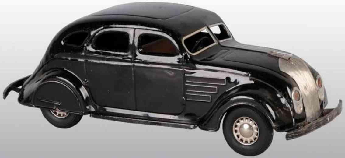corcoran pressed steel toy car airflow automobile black