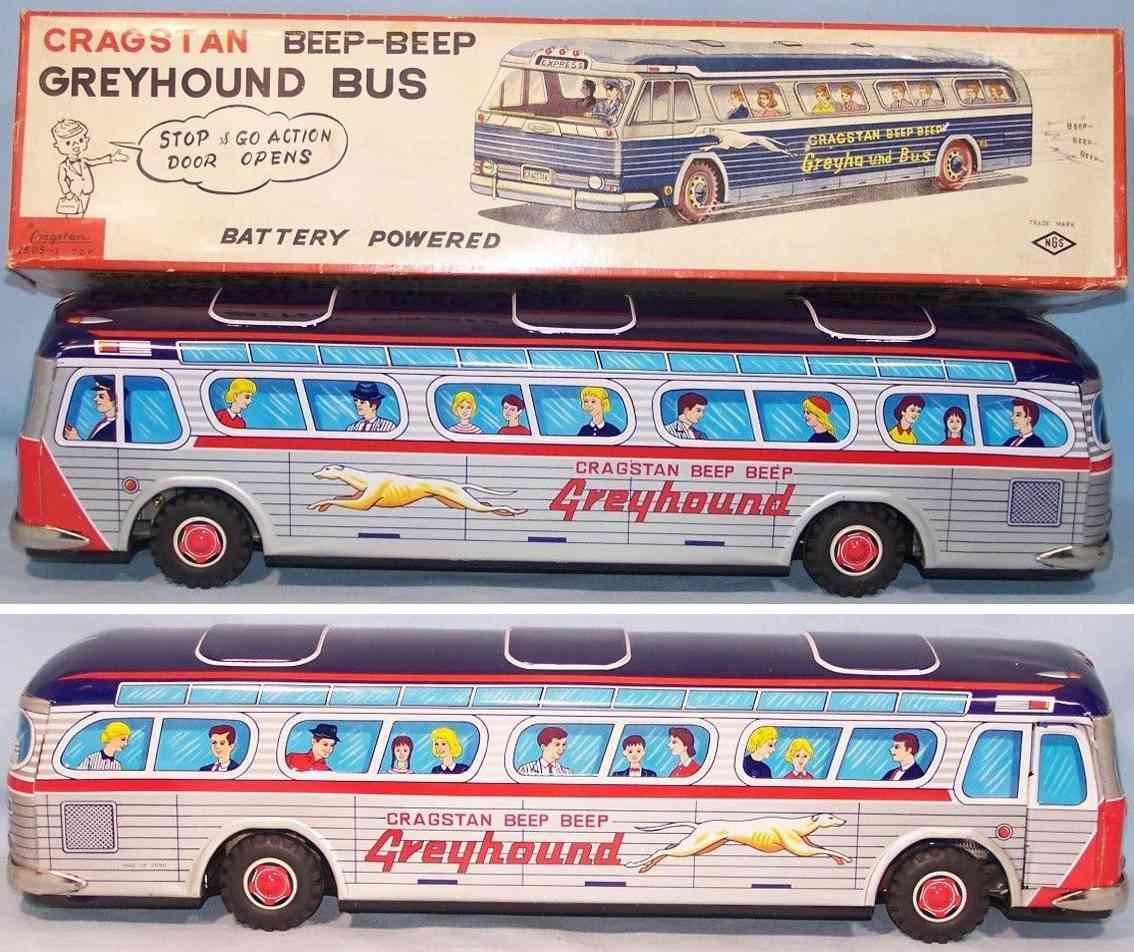 cragstan 2505-1 blech spielzeug greyhound bus