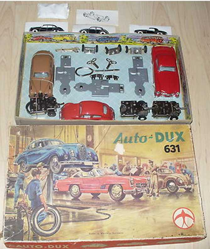 DUX 631 Car component system with 3 selfkits: BMW 501 Mercedes 190 VW Beetle