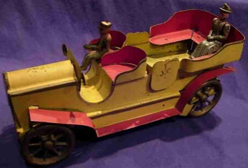 dayton blech spielzeug auto tourenwagen gelb rot