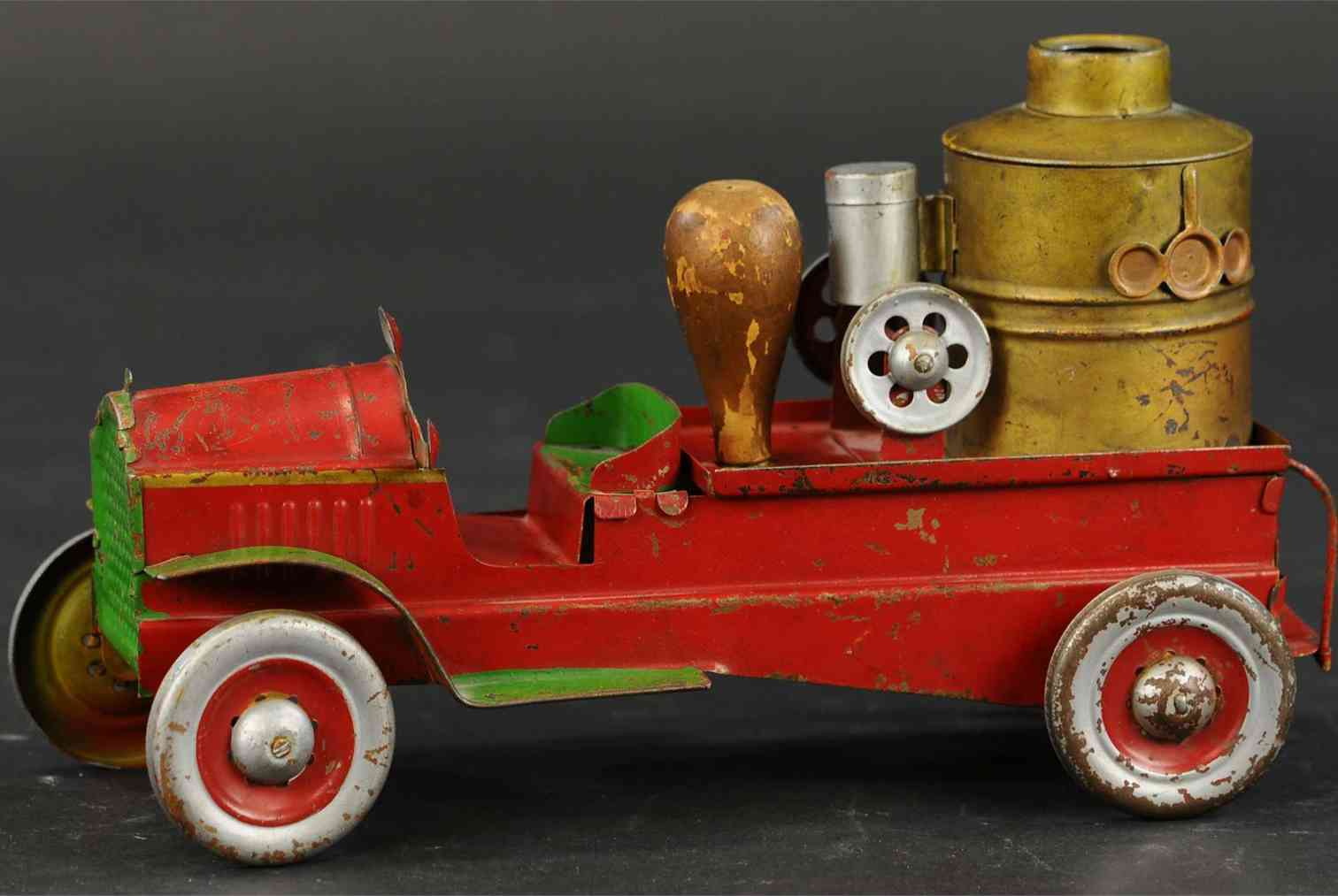 dayton toy fire pumper truck pressed steel with friction drive