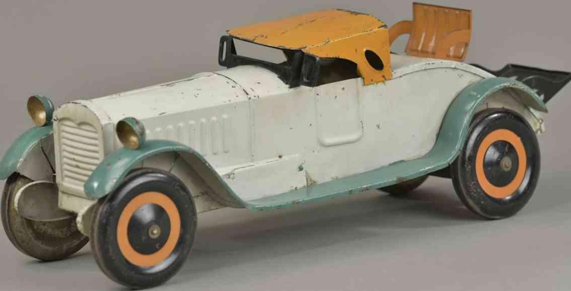 dayton stahlblech spielzeug auto packard roadster weiss orange gruen