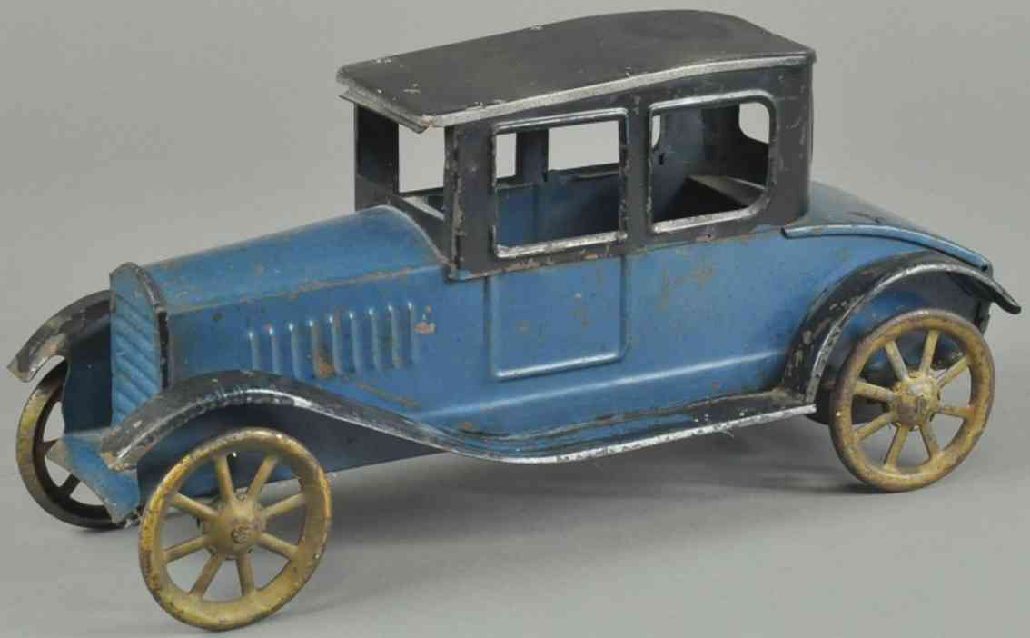 dayton spielzeug auto coupe stahlblech blau schwarz
