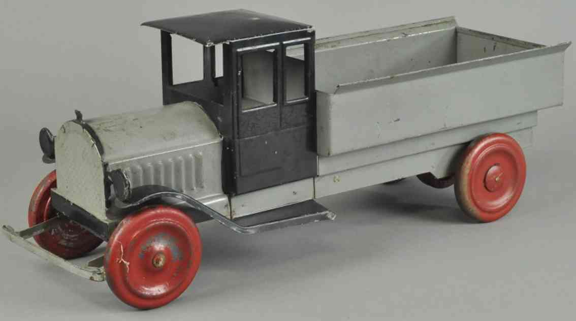 dayton blech spielzeug lastwagen kipplastwagen aus stahlblech grau schwarz