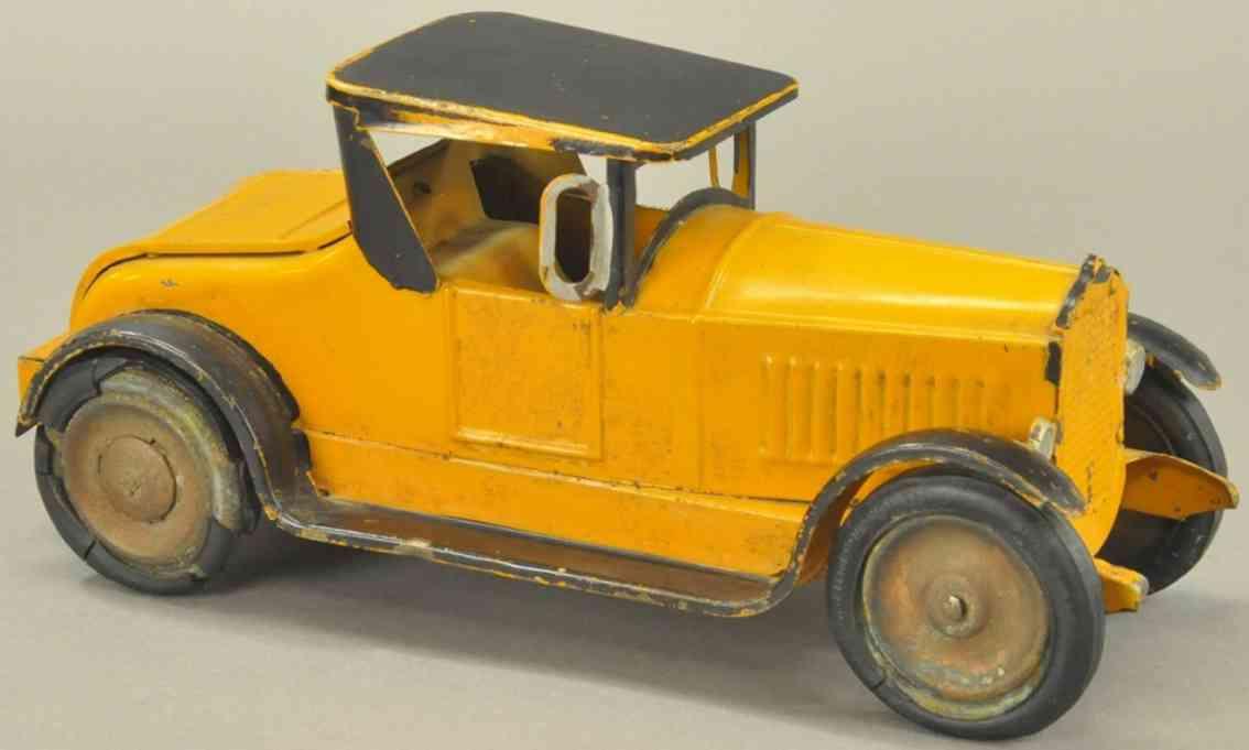 dayton stahlblech spielzeug auto roadster orange schwarz friktionsantrieb