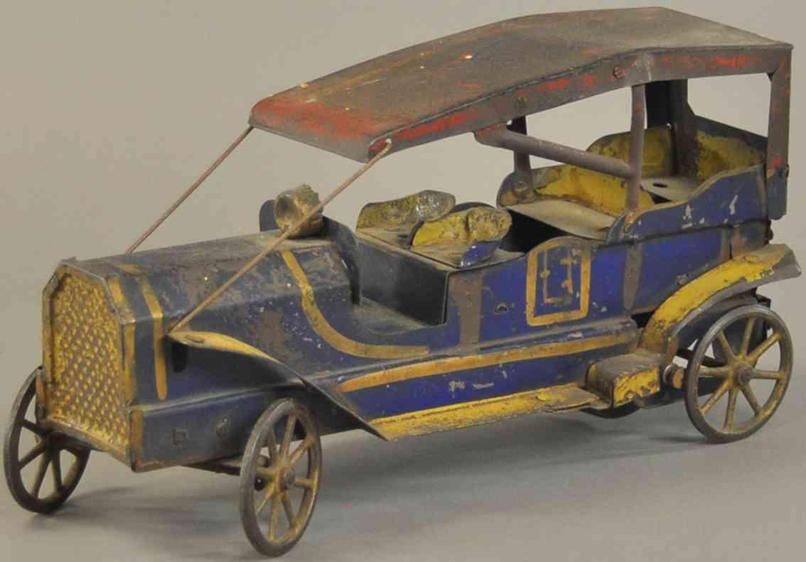 dayton stahlblech spielzeug auto toadster tourenwagen blau