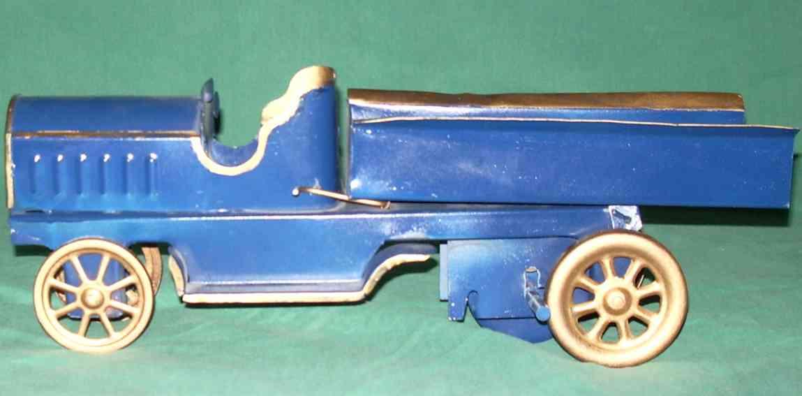 dayton blech spielzeug auto lastwagen in blau und gold