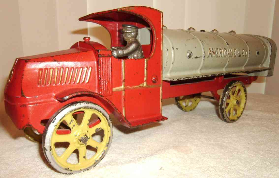 dent hardware co 278 spielzeug gusseisen american oil co mack tanklastwagen