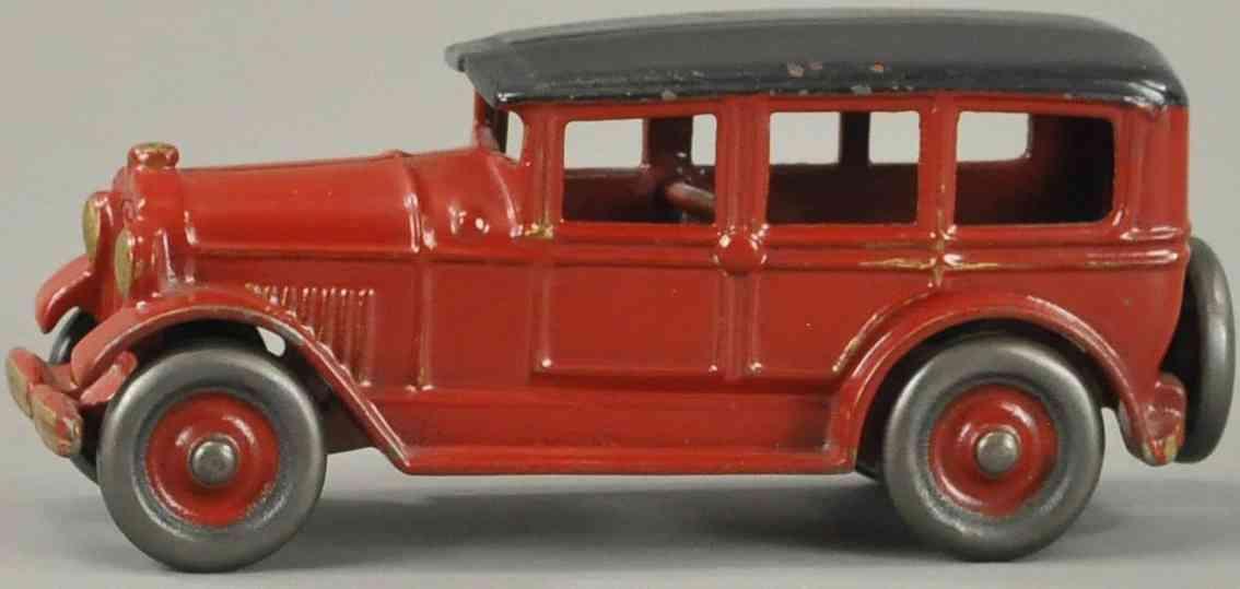 dent hardware co spielzeug gusseisen auto limousine vier tueren rot schwarz gold