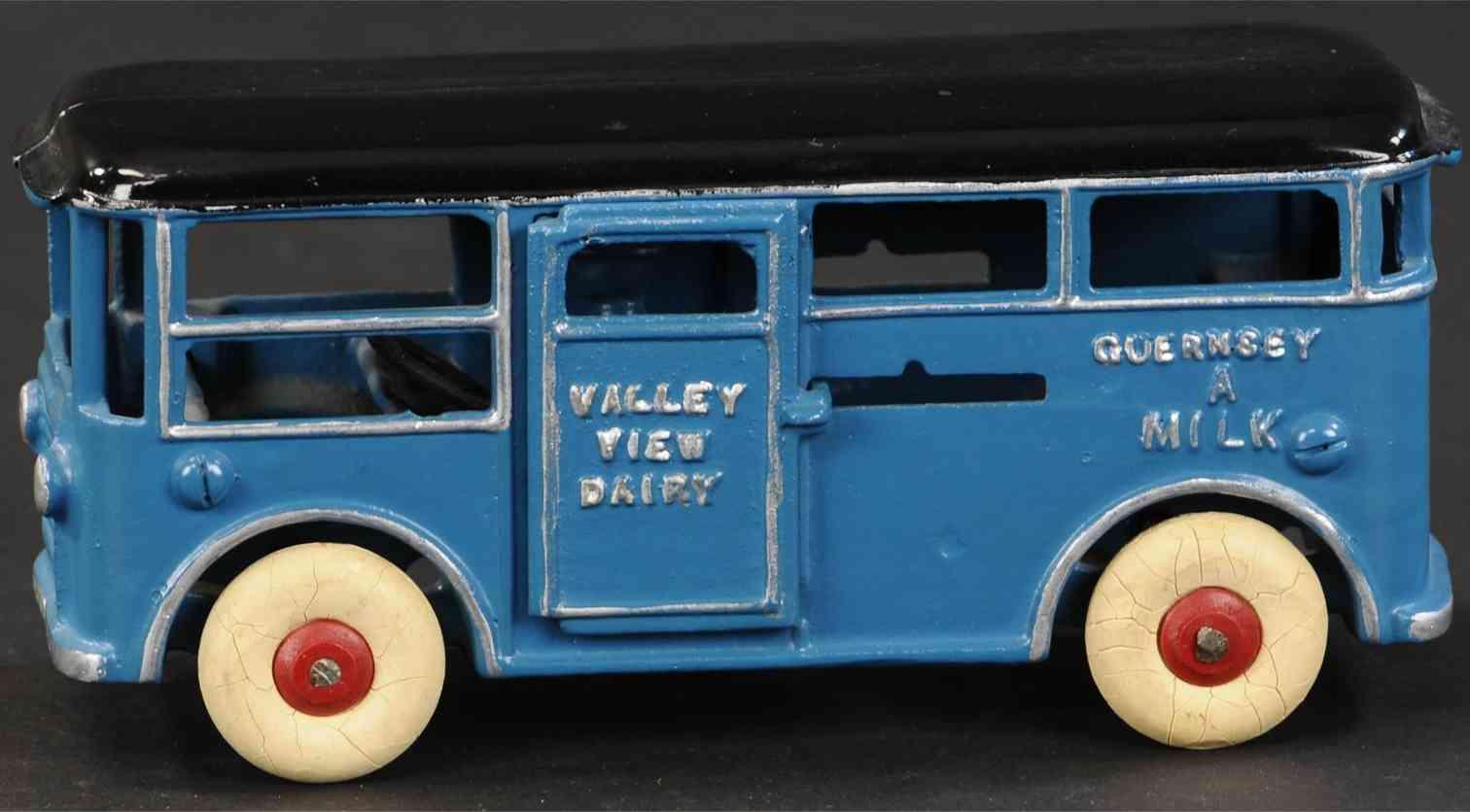 dent hardware co 713 spielzeug gusseisen milchlieferwagen blau