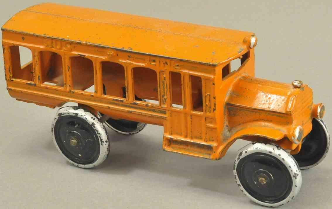 dent hardware co spielzeug gusseisen linienbus orange
