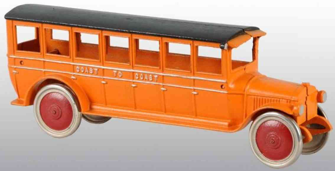 dent hardware co cast iron toy bus coast to coast coach bus pramge black