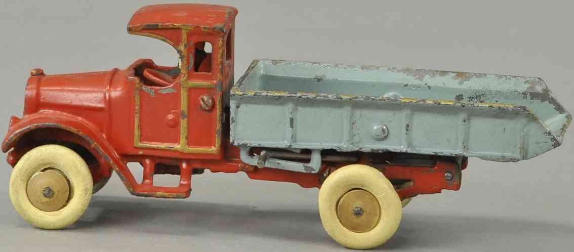 dent hardware co spielzeug gusseisen kipplastwagen rot blau