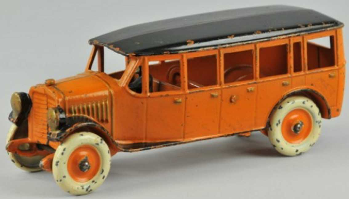 dent hardware co gusseisen ueberlandbus orange schwarz