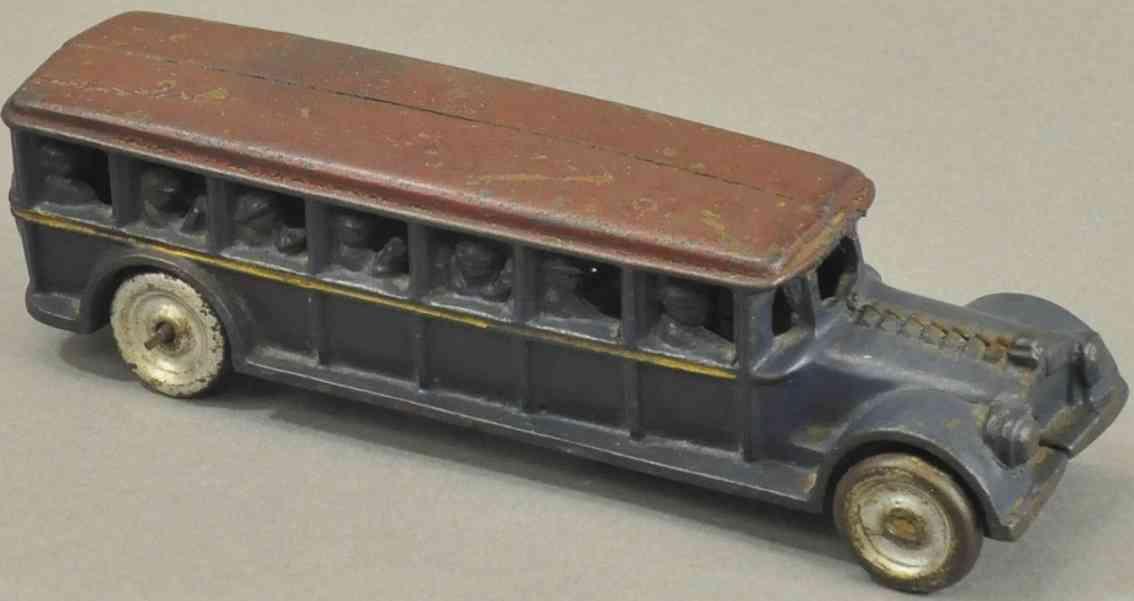 dent hardware co spielzeug gusseisen passagierbus reisebus blau rot