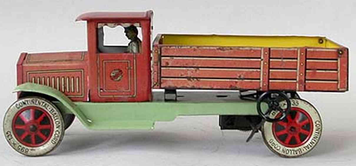 distler johann 622 blech spielzeug pritschenwagen fahrer federwerksmotor