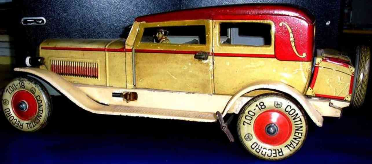 distler johann blech spielzeug auto limousinejd 1747 uhrwerk fahrer