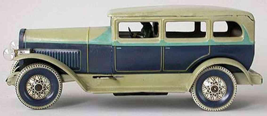 distler johann 2274 blech spielzeug auto limousine strassenkreuzer fahrer uhrwerk