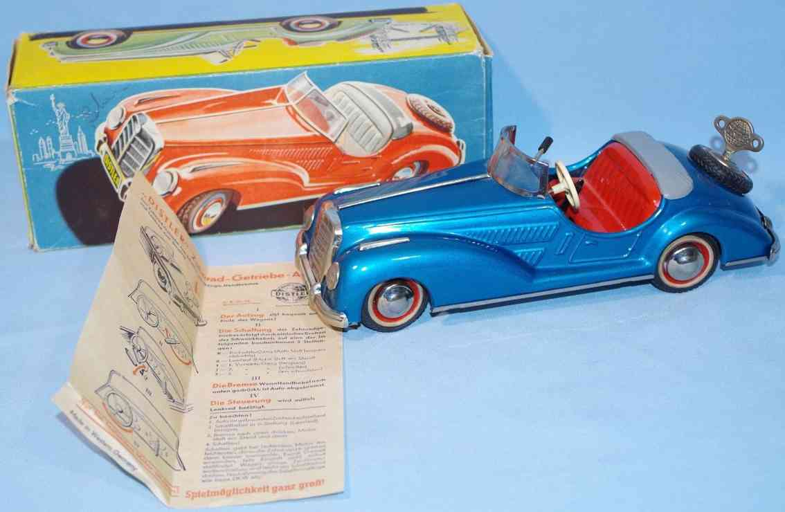 distler 2727 blech zahnrad-getriebe auto mercedes krueckstockpackard metallic blau