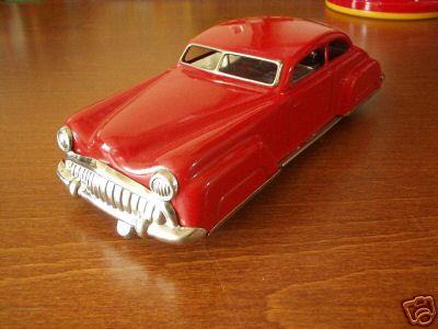 distler johann 7000 tin toy car elektromatic car red