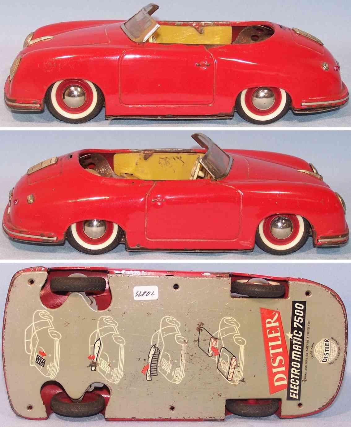 distler johann 7500 tin toy car porsche 365 red
