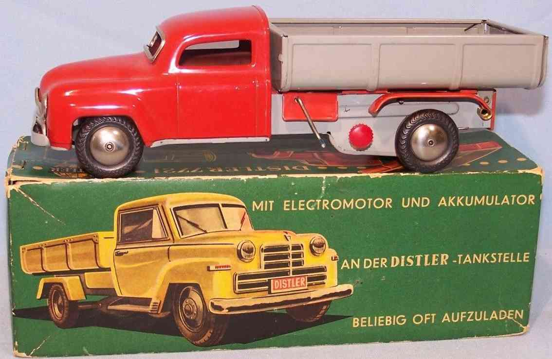 distler 7721 tin toy dump truck electromatic red