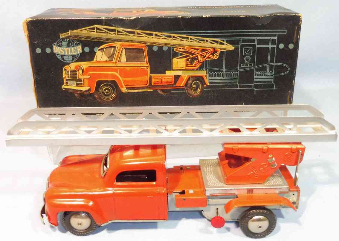 distler 7722 tin toy engine fire ladder car