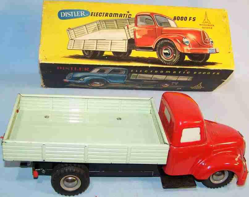 distler johann 8000fs blech spielzeug magirus lastwagen rot mint batteriebetrieben