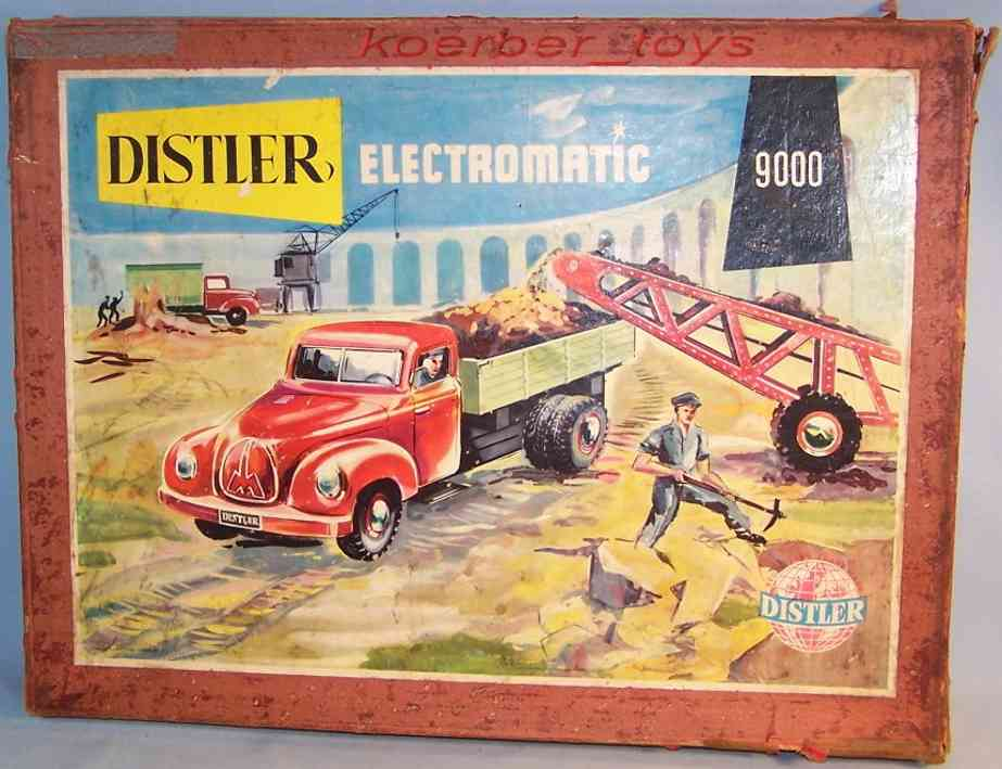 distler johann 9000 tin toy kit car electromatic truck