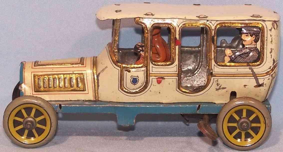 distler blech spielzeug auto limousine weiss gold