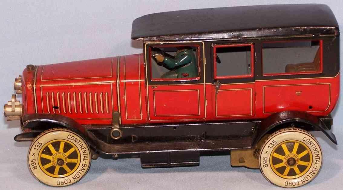 distler 649 blech spielzeug auto limousine rpt schwarz elektrischer antrieb