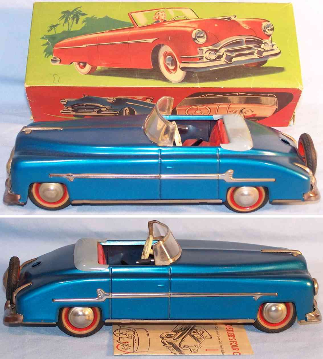 distler johann packard cabriolet tin toy car dark blue
