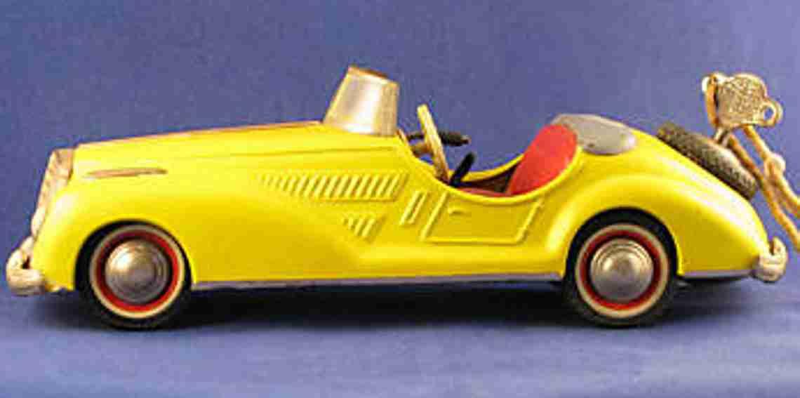distler 2727 blech spielzeug auto mercedes krueckstock packard gelb uhrwerk