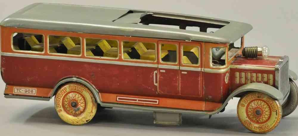 distler tc-906 blech spielzeug autobus mit schiebedach uhrwerk