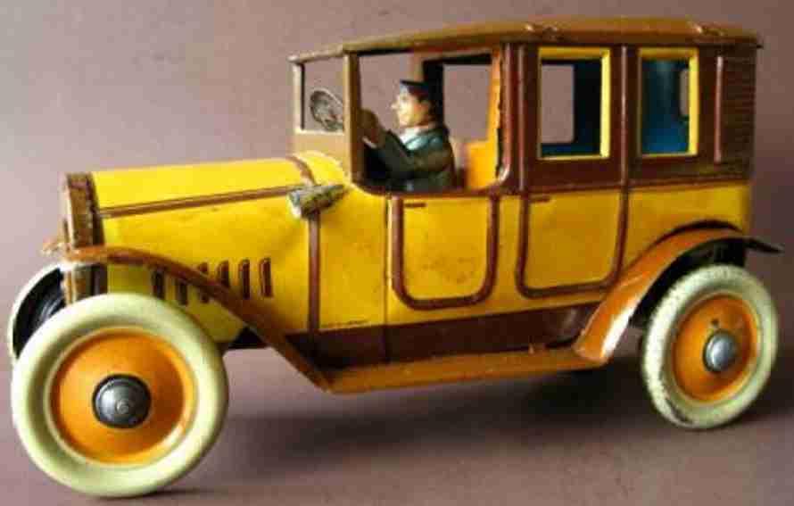 distler johann blech spielzeug auto taxi mit uhrwerk d 333