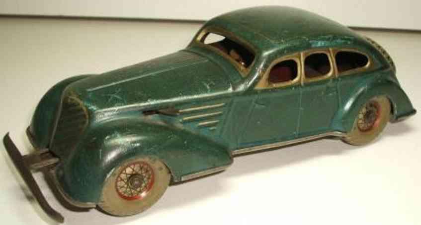 distler johann tin toy turn car with clockwork green