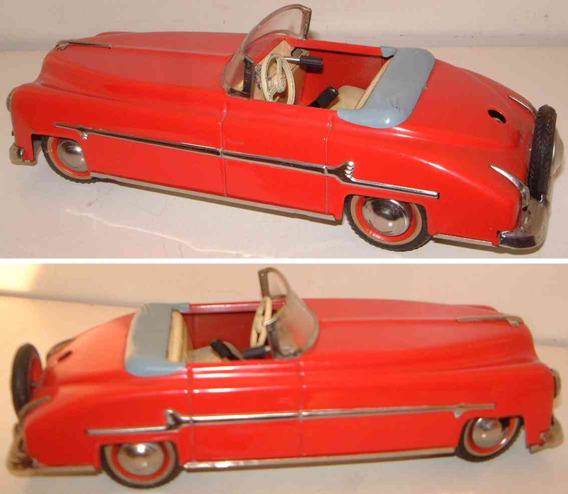 distler johann tin toy car packard cabriolet road cruiser red gear shift