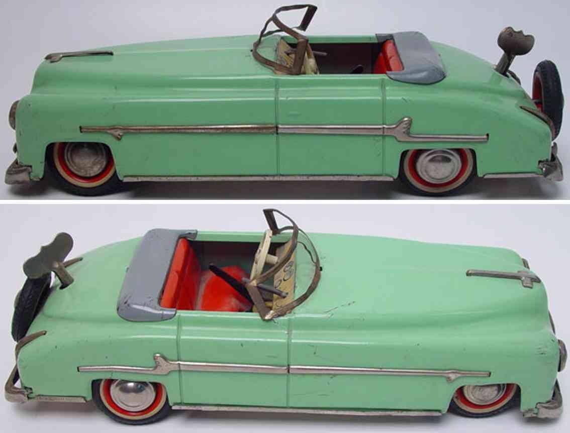 distler johann tin toy car packard cabriolet green with wind-up gear shift