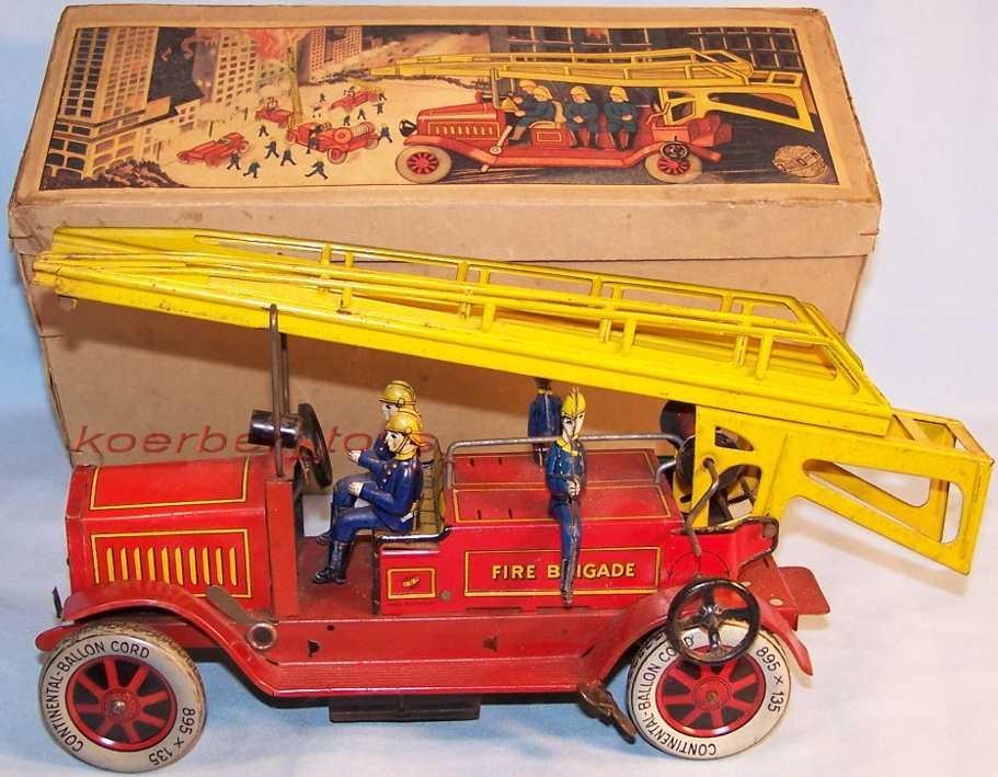 distler 1614 blech spielzeug feuerwehrleiterwagen