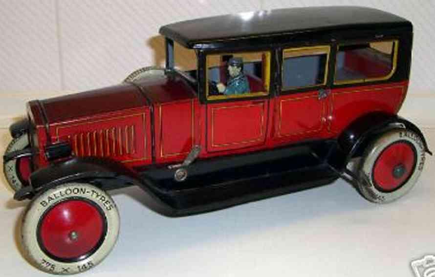 distler johann 662 tin toy car limousine with clockwork spare tires battery