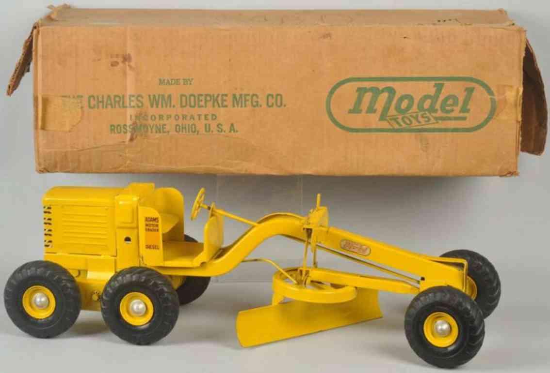 doepke adams pressed steel toy adams motor grader