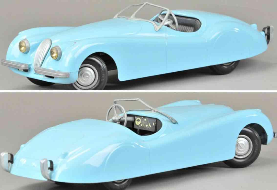 doepke spielzeug auto jaguar druckguss blau