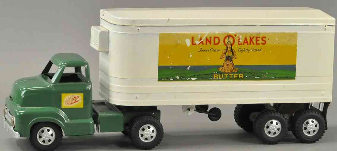 dunwell metal products company land o lakes blech spielzeug lastwagen anhaenger