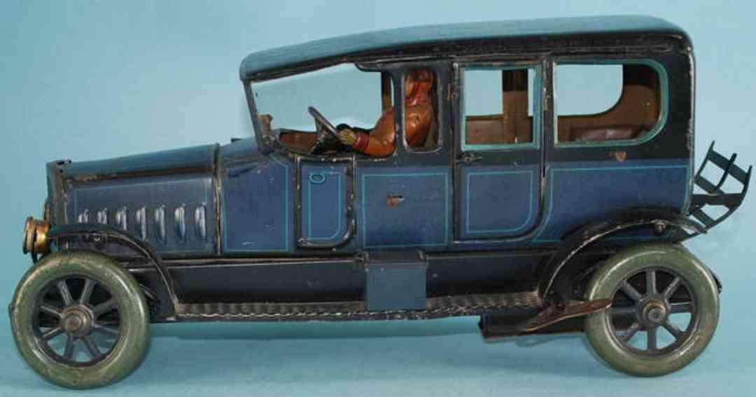 Eberl Hans Oldtimer Limousine lithografiert mit Uhrwerk und Fahrer