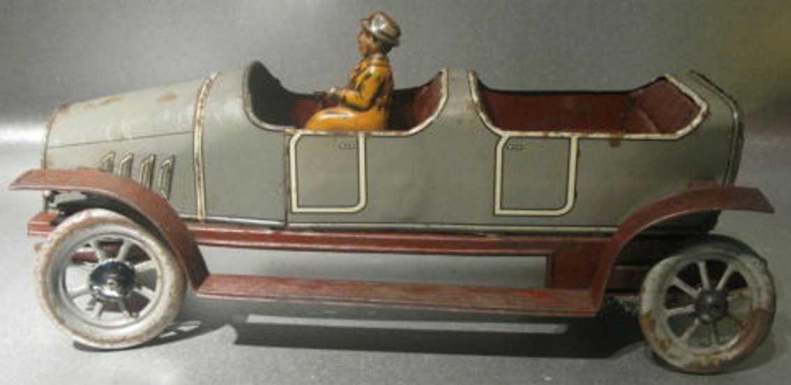 Eberl Hans Oldtimer Cabrio mit Fahrer und Uhrwerk
