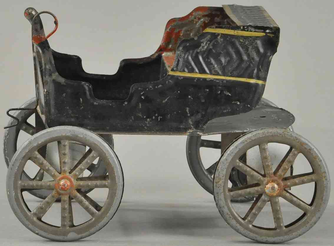 fallows tin toy car early runabout auto in black