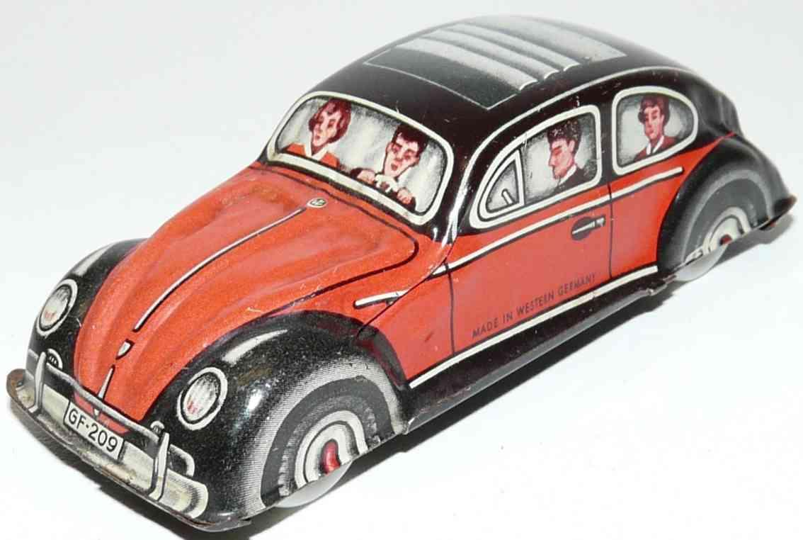fischer georg 209 blech spielzeug auto käfer mit faltdach aus blech ohne antrieb