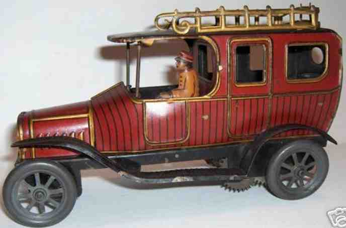 Fischer Georg Oldtimer Limousine mit Uhrwerk und Fahrer