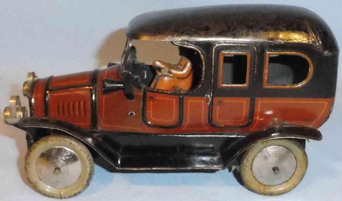 fischer georg blech spielzeug auto kleine reiselimousine federwerk