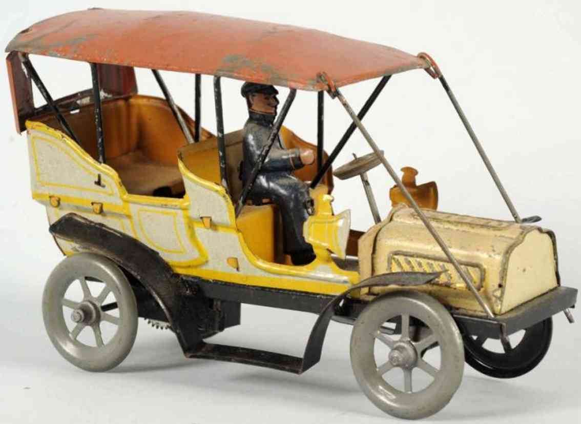 fischer georg tin toy car automobile driver